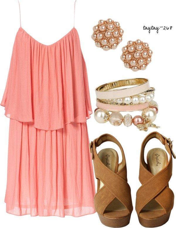 Polyvore kombinacije ljetne haljine 10