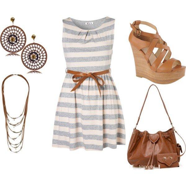 Polyvore kombinacije ljetne haljine 8