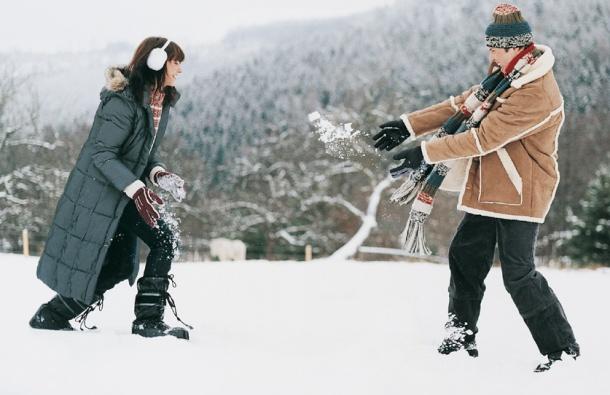 zaljubljeni par zima
