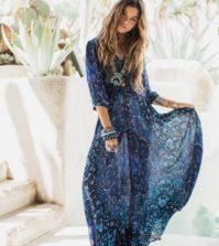 duga haljina u boho stilu