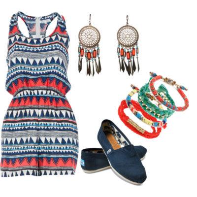 modne kombinacije sa ravnom obucom za ljeto 1