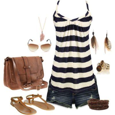 modne kombinacije sa ravnom obucom za ljeto 3