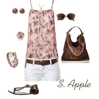 modne kombinacije sa ravnom obucom za ljeto 4