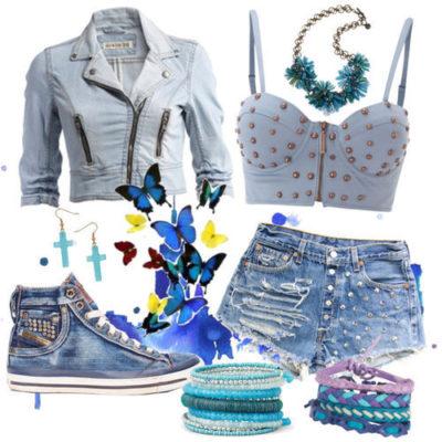 modne kombinacije sa ravnom obucom za ljeto 6