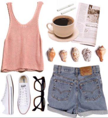 modne kombinacije sa ravnom obucom za ljeto 8