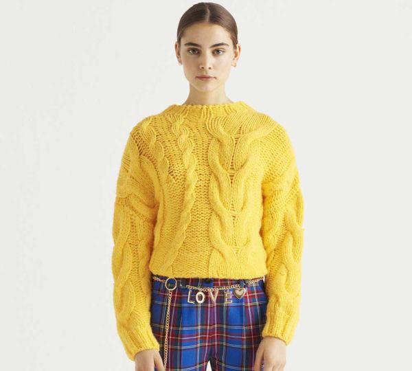 Žuti ženski džemper