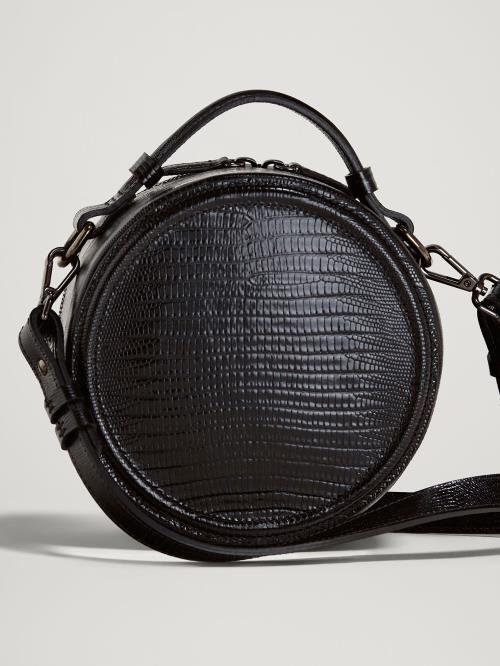 Massimo Dutti crna okrugla torba za jesen 2018
