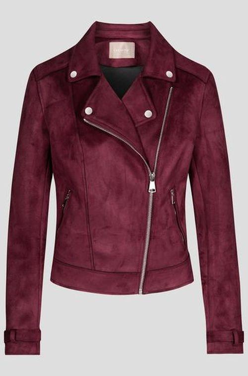 Bordo kožna jakna za jesen