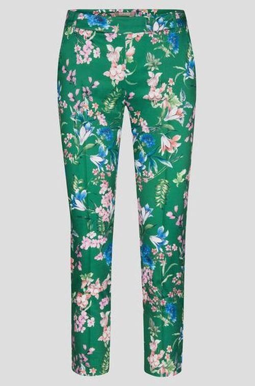 Orsay - zelene ženske hlače sa cvjetnim uzorkom