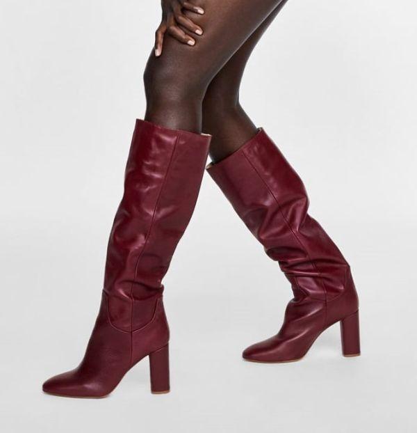 Zara čizme - burgundy boja 2018