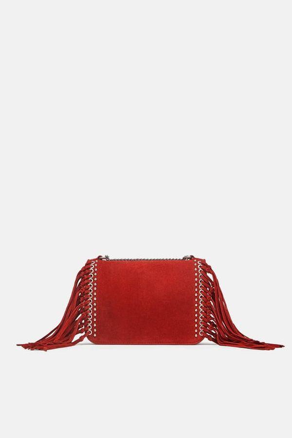 Zara - Crvena torbica sa resicima