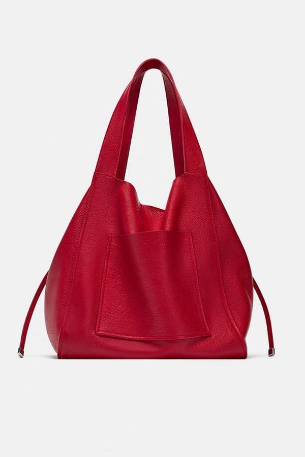 Zara - Trendi crvena torba za jesen 2018