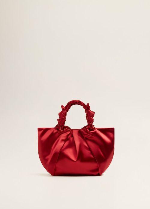 Mango - crvena satenska torba